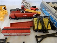 GROUPING OF RAILWAY ENGINE, CARS, ACCESSORIES