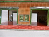 LOT OF 3 - 2 RAILROAD TIN STATIONS & SCHOOL
