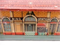 BING EMBOSSED TIN LITHO RAILWAY STATION
