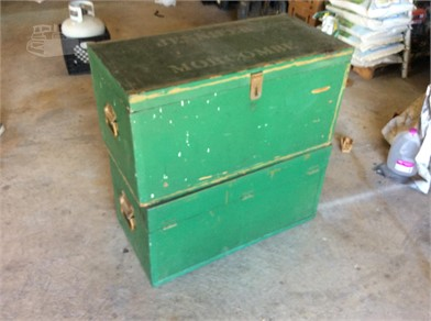2 LARGE GREEN STORAGE CHEST Other Items For Sale - 1