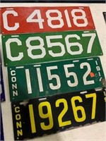 15 - 1914 and up Connecticut License Plates