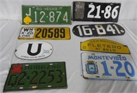 Lot of 12 License Plates