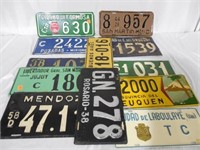 Lot of 12 Buenos Aires License Plates