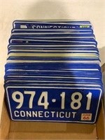 Lot of 69+ Connecticut License Plates