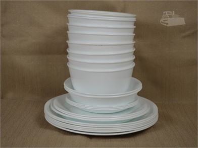 25 PC  SOLID WHITE CORELLE DISHES Other Items For Sale - 1