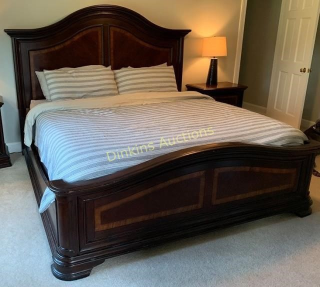 Amazing Havertys King Bed Without Mattress Hibid Auctions Lamtechconsult Wood Chair Design Ideas Lamtechconsultcom