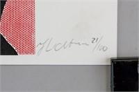 Roy Lichtenstein American Signed Litho 21/100
