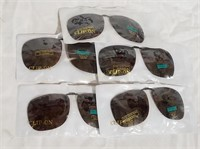 Lot Of 5 New Clip On Sunglasses