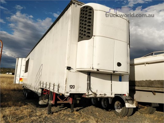 2002 Krueger Drop Deck Curtainsider Trailer Wheellink - Trailers for Sale