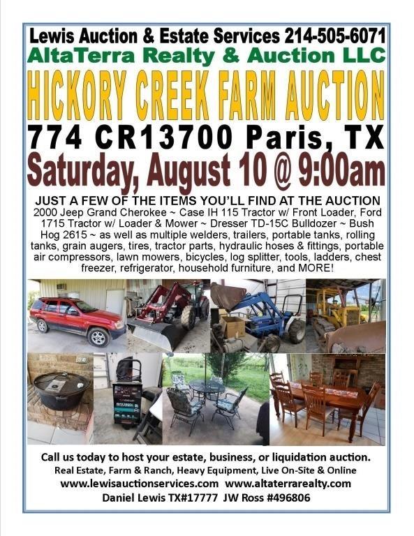 Hickory Creek Farm Auction