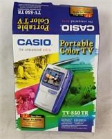Casio Portable Color Tv In The Box Tv-850 Tr