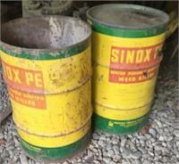 Sinox 30 gal drums