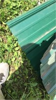 2 Sheets of green metal roofing