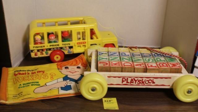 Playskool Wooden Blocks Little People Bus More H K Keller