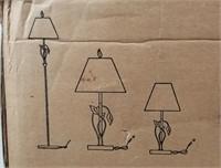 Profiles Lighting Set Of New Lamps Brown