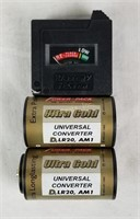 Set Of 6 Battery Converters Aa To C & D