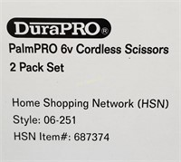 2 New Durapro Palmpro Cordless Scissors 2 Packs