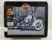 Sealed Harley Davidson Motorcycle Puzzle In Tin