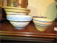 Blue & White Stoneware Bowl