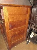Oak Commode Stand