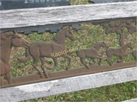Equine Themed Park Bench