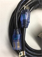 New HD 40' Ext. Cord With Lighted Ends