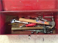 Small Red Tool Box With Tools - Per Photos