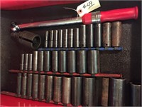 Contents of Drawer - Deep Well Impact Sockets