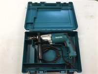 "Makita !/2"" Electric Hammer Drill With Case"