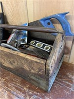 Antique Tool Box Packed with Many Tools
