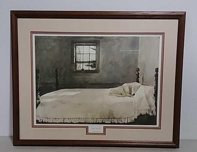 Framed print Master Bedroom by Andrew Wyeth   W. Yoder ...
