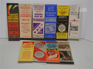 10] VINTAGE HARDWARE STORE MATCHBOOK COVERS Other Items For