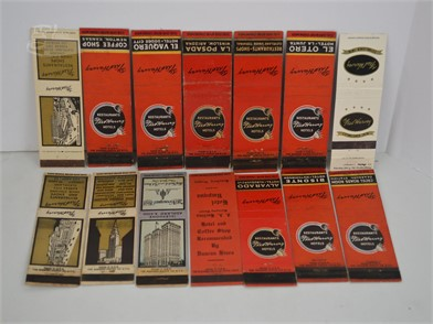 14] VINTAGE FRED HARVEY HOTEL MATCHBOOK COVERS Other Items