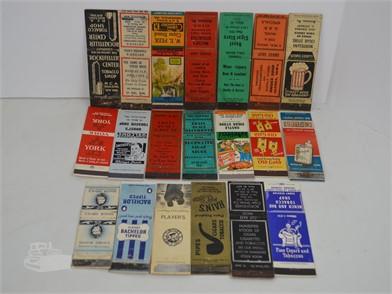 20] VINTAGE CIGAR & CIGARETTE MATCHBOOK COVERS Other Items