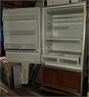 Sub Zero 550 Cabinet Enclosed Refrigerator Wood