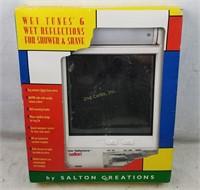 Wet Tunes & Reflections Shower Mirror Radio Salton