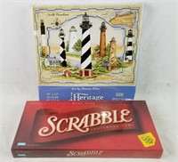 Brand New Scrabble Board Game & 1000pc Puzzle