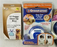 Lot Of Dog Care Products Leash Brushes & More
