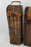 Lot Of 3 Wicker Baskets Different Styles