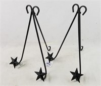 Pair Of Smaller Decorative Easels Star