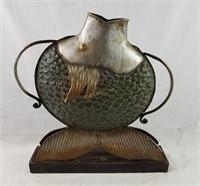 Metal Art Vase Fish Shaped
