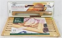 New Chef Rite Bread Knife Beechwood Bread Crumber