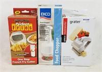 New Cooking Gadgets Fry Cutter Grater & Chopper
