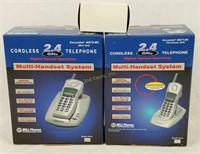 2 New Bell Multi-handset Systems Cordless Phones