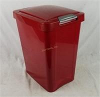 Red Pop Up Lid Trash Can Waste Basket Sterilite