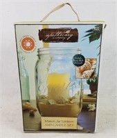 New Mason Jar Lantern & Candle Set