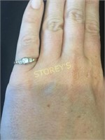 14 & 18kt Yellow w/ Rhodium Plating Engagement Rin
