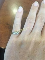 14 & 18kt Yellow & White Gold Ring - .01ct