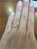 14kt Yellow & White Gold Diamond Ring - .12ct
