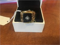 10kt Yellow Gold Men's Ring w/ Black Onyx